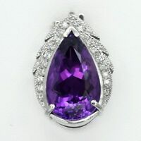 Ravishing! 8.00 Carat Natural Rich Purple Amethyst Pendant in 925 Silver