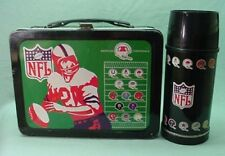 Vintage 1973 Rare 7 metal Green NFL lunch box and thermos Rare 8