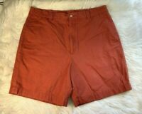 Men's Onward Reserve Red Flat Front Chino Shorts Size 36