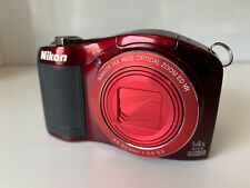(1) Working Nikon Coolpix L610 16MP 14x Optical Zoom  Red Digital Camera  Used