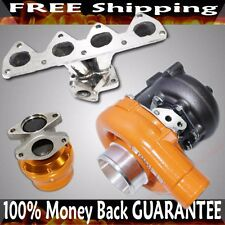SS Manifold+T3/T4 Turbo+38mm ADJ. Wastegate for 93-01 Prelude 2.2L H22A1/ H22A4