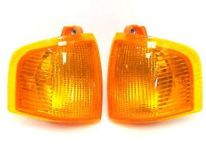Ford Escort 1986-1990 Amber turn signal indicator blinker lights set pair LH+RH