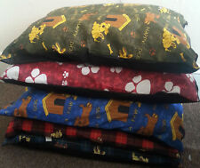 """Pack of 5 Large Size Dog Bed Filled Pillows Removable Zip 28""""x38"""" Random Designs"""