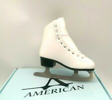 American Athletic Shoe Women's Tricot Lined Ice Skates (Size 5) White New