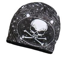 SKULL & CROSSBONES Beanie Knit Cap Motorcycle Biker Hat Pirate Ski Snowboard