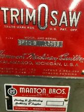 Hammond Trim O saw Antique letter press saw