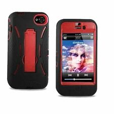 RUGGED IMPACT HYBRID HARD KICKSTAND CASE COVER FOR APPLE IPHONE 4 4G 4S PHONE
