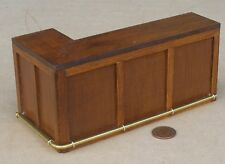 1:12 Scale Stained 5.9cm Diameter Wooden Barrel Table Tumdee Dolls House Pub Bar
