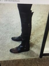 Stuart Weitzman Black Leather Over The Knee Boots Size 8