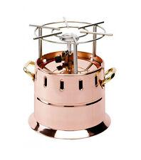 AGNELLI FLAMBEAU DA SALA a gas in rame liscio bombola camping gas 1,8 kg NUOVO
