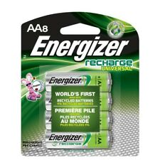 AA8 AA Energizer Universal Rechargeable NiMH Batteries EXP 2021 (8/pack) 2000mAh