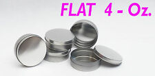 4 Oz Flat Round Metal Tin Container - candles,crafts,storage,su rvival (2 Pack)
