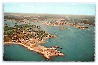 Postcard Portsmouth NH aerial harbor L28