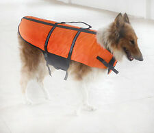 XXS-LARGE DOG BREED) (ORANGE DOG LIFE PRESERVER LIFE JACKETS