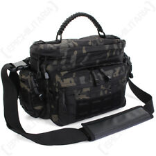 Tactical Small Shoulder Bag - Black Multitarn - Outdoors Military Army Sling NEW