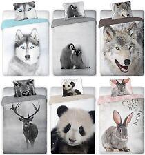Bettwäsche Husky Hirsch Pinguine Wolf Hase Panda 135X200 140X200 100% Baumwolle