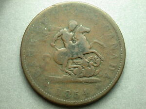 Canada Upper 1854 One Penny Token