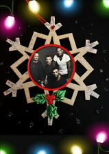 Boyzone Traditional Wooden Christmas Hanging Decoration Hand Finished