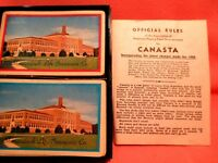 1950 Set of Canasta Cards in Box with Rules Shenandoah LIfe Insurance Company