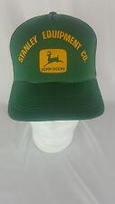 Vintage John Deer hat snapback trucker mesh Cap Stanley Equipment NWOT