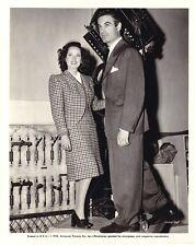 MERLE OBERON CHARLES KOVIN Original CANDID on Studio Set Vintage Universal Photo
