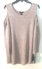 Womens Alfani Champagne Cold Shoulder Sweater w/ Cami, 100% Polyester, 3X, NWT