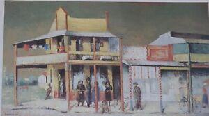 Sali Herman, Country Street Scene,  Rare Australian Art Print. Large.