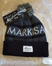 NEW IN PACKAGE MARKISA II POM BEANIE BLACK AND GREY