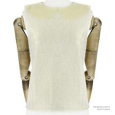 Thom Browne Light Metallic Gold Finely Knit Wool Sleeveless Tank Top 3 UK12