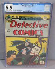 DETECTIVE COMICS #80 (Two-Face Cover) CGC 5.5 DC Comics 1943 Golden Age Batman