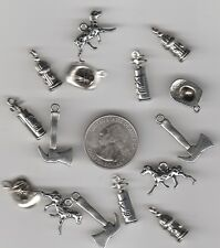 10 Or 20PCs White Mermaid Scale 31mm Antiqued Silver Plated Charms C9129-5