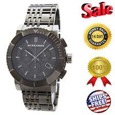 100% BRAND NEW BU2305 Burberry Trench Chronograph Mens Ion Plated Gunmetal Watch