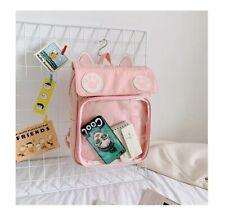 2020 Women Cute ITA Bag With Cat Bagging Backpacks Girls Transparent Backpack