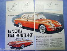 QUATTROR965-RITAGLIO/CLIPPING/NEWS-1965- SECURA QUATTRORUOTE-OSI - 4 fogli