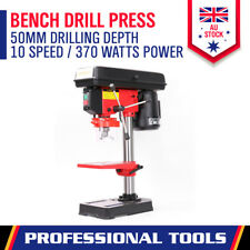 New Bench Drill Press 5 Speed Drilling Workshop Mounted Chuck Size 1.5-13mm 370W