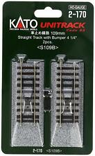 """Kato #2-170 HO Code 83 4 1/4"""" Straight UniTrack with Bumper (Pack of 2)"""