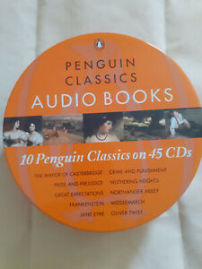 10 PENGUIN CLASSICS ON 45 CDs 10 x Audio Books Very Good Condition.