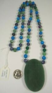 Lee Sands Multi Gemstone Green Aventurine Knotted Necklace