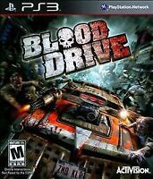 Blood Drive PS3 NEW! RUN OVER ZOMBIES! RACING COMBAT TWISTED METAL BATTLE CARS