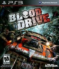 Blood Drive PS3 NEW! RUN OVER ZOMBIES! RACING COMBAT TWISTED METAL BATTLE CARS 0