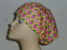 BAKER, COOK, CHEF, Hat Hair Cover - Toggle Adjustable. STRAWBERRY FIELD