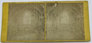 Antique Stereoview Photo Manchester Assize Court Grand Entrance Hall
