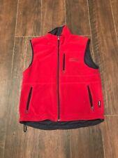 Polo Sport Vintage Polartec Reversible Fleece Vest Navy/Red Mens Medium