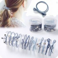 12Pcs Women Girls Hair Band Ties Rope Ring Elastic Hairband Ponytail Holder New