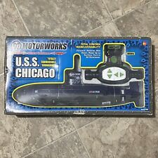 New In Box Motorworks USS Chicago Submarine 6th Channel RC Submersible