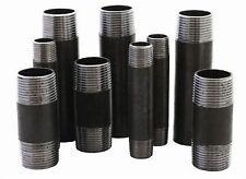 """Rohrnippel Stahl Schwarz Fitting Temperguss 1/2"""", 3/4"""", 1"""" von 40 mm bis 1000 mm"""