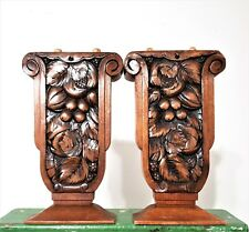French antique art deco wooden corbel bracket architectural salvage furniture