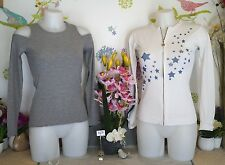 "Lot vêtements occasion femme - Haut "" Cache C. "", Sweat "" Guess "" - T : 34 / 36"