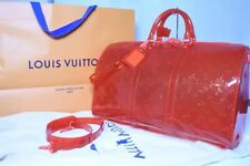 Louis Vuitton Virgil Keepall 50 Travel Duffle Bag Red M53274 Shoulder Auth New