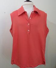 Adidas Golf Climalite L Peach Sleeveless Shirt Top Athletic Wear Tennis Fitness
